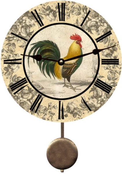 Country Clock-Rooster Country Clock