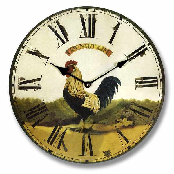 Black Cockerel Country Life Clock (6253) | Wall Clocks | Wholesale ...