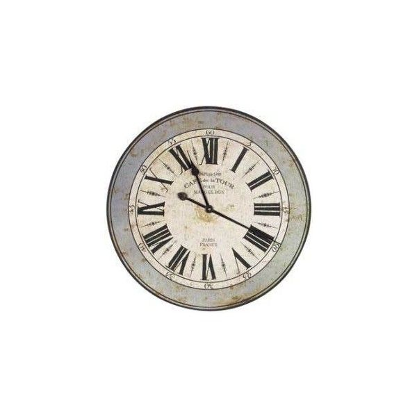 LARGE FRENCH WALL CLOCK Clocks Section painted pine furniture country ...