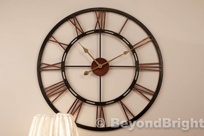 Details about X Large Metal Wrought Iron Wall Clock Vintage French ...