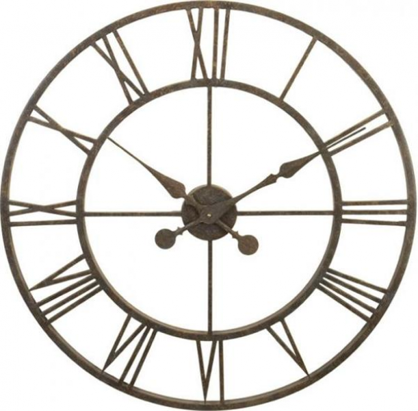 River City Clocks Metal Skeleton Tower Clock - Large Wall Clock L28-30