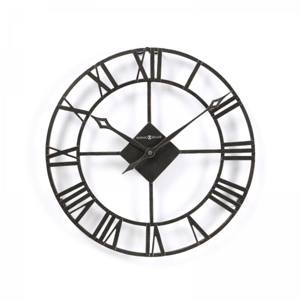14 Wrought Iron Large Wall Clock W/ Roman Numerals - Wall Clocks