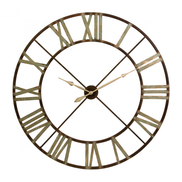 Jasper 48 Wrought-Iron Wall Clock