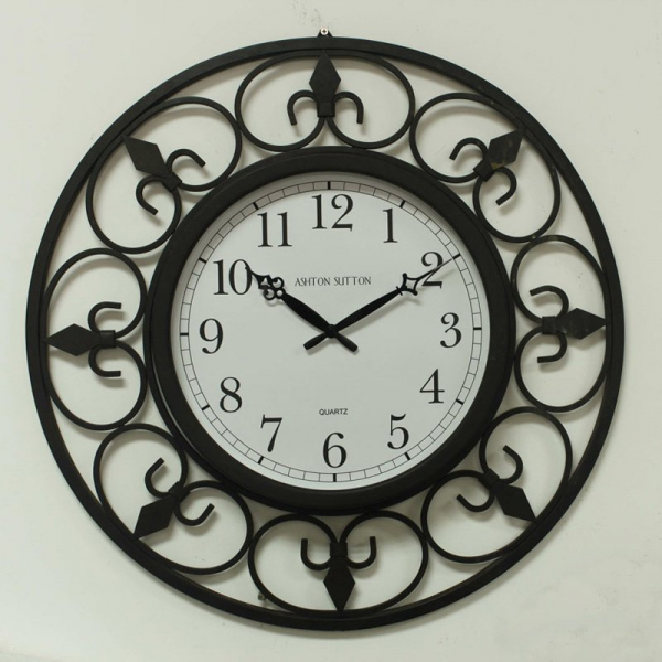 ... Breeze Large 24 in. Wrought Iron Wall Clock - Wall Clocks at Hayneedle