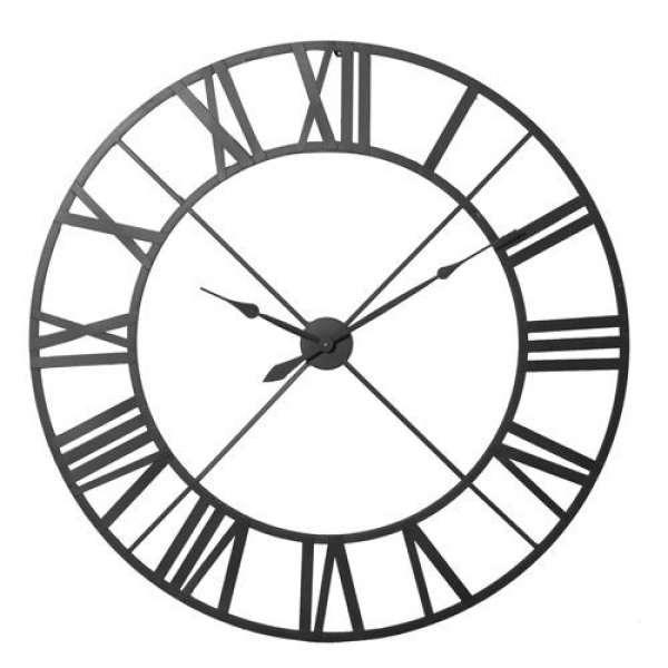 Very Large Wrought Iron Wall Clock - Black 122cm (4ft)