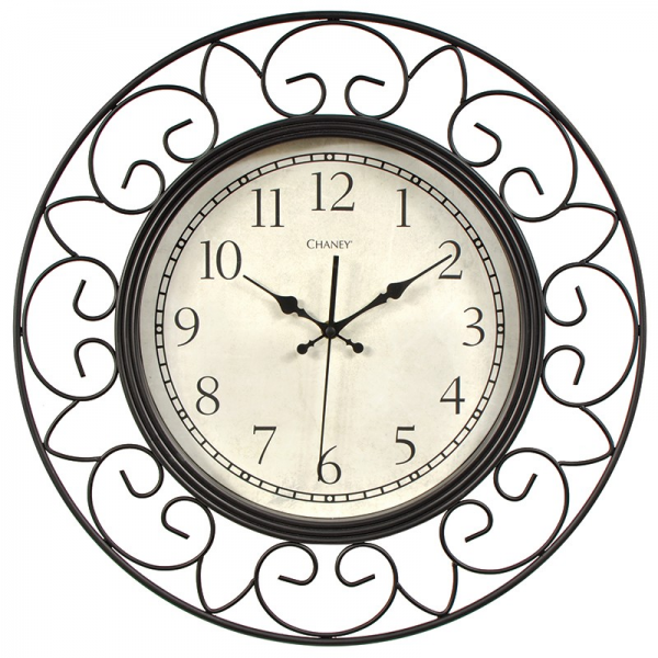 18-inch Decorative Wrought Iron Metal Wall Clock | Chaney