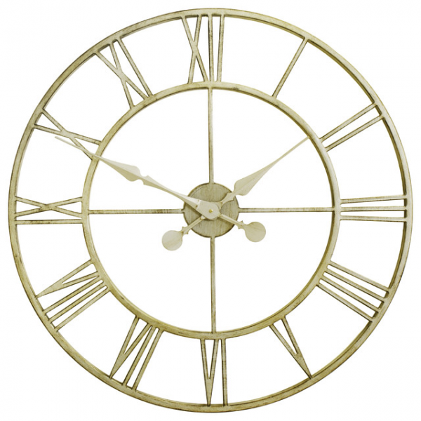 ... Open Faced Metal Wall Clock - 77cm (30) contemporary-wall-clocks