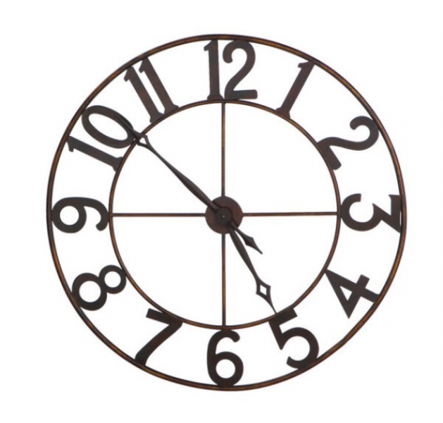... Decor Clocks 30 Trendy Oversized Numbers Open Frame Iron Wall Clock