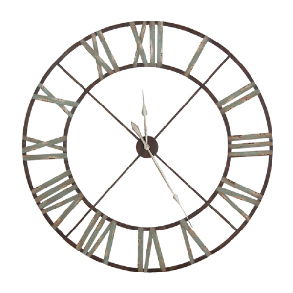 home clocks clock large iron roman numeral