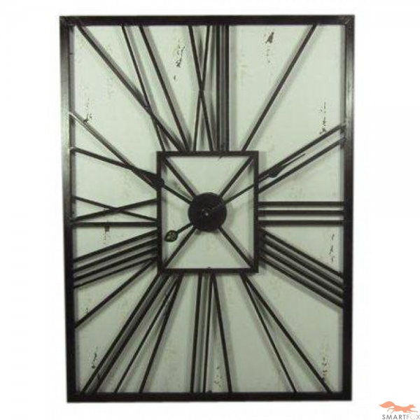 Large Vintage Wooden Wall Clock - black or white