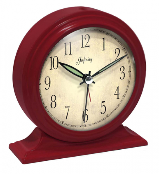 Large Wall Clocks > Desk Clocks > Boutique Red Alarm Clock