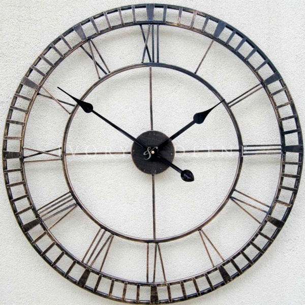 Large Metal Wall Clock-french_provincial_large_metal_wall_clock ...