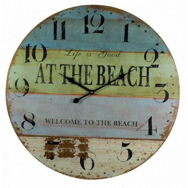 Beach Wall Clock 23 Model Ship Assembled - Wholesale Nautical Clocks ...