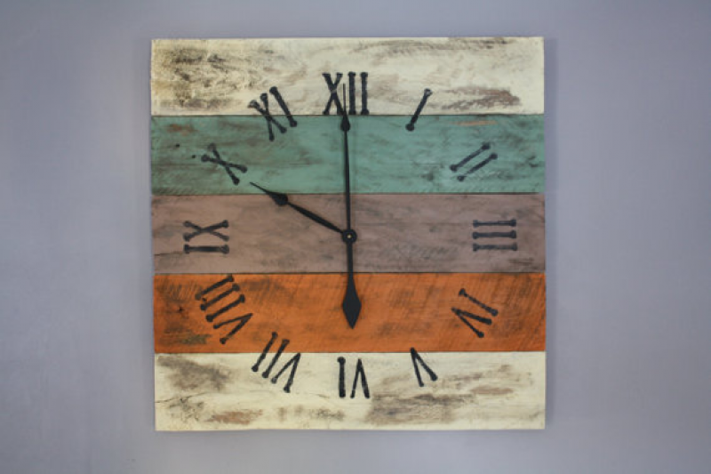 Large Wall Clock, Beach House Style, Reclaimed Pallet Wood CUSTOM ...
