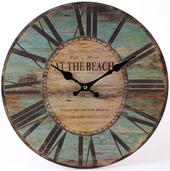Large Vintage Nautical Wooden Wall Clock Design - Life Is Good At The ...