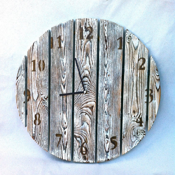 Wall clock, Beach Wooden Clock, Large Wooden Clock, Home Decor, Clocks