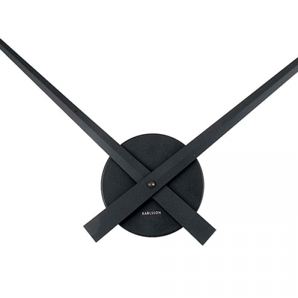Big Hands Black Wall Clock 76cm