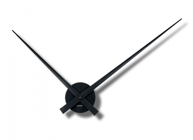 ... Classic Little Big Time Large 76-cm Minimalist Wall Clock Black