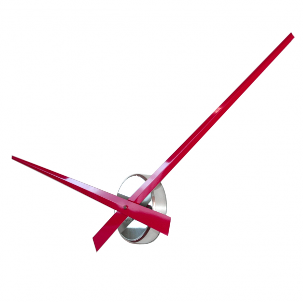 UK: Roco Verre Big Hands Modern Red Wall Clock