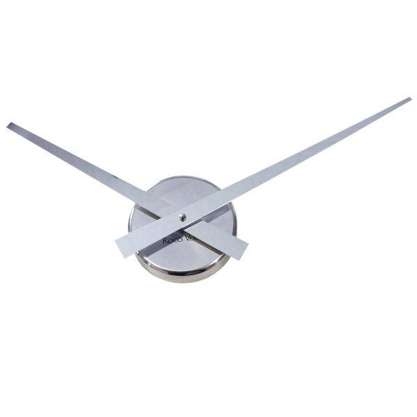 UK: Roco Verre Little Big Hands Wall Clock Chrome at Contemporary ...