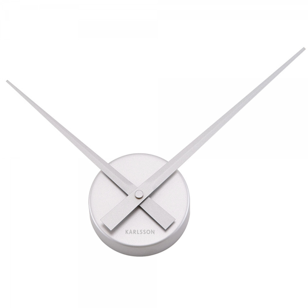 Little Hands Silver Wall Clock 38cm