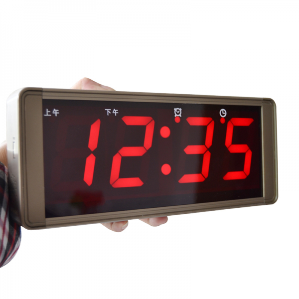 Large screen digital calendar wall clock modern led electronic mute ...