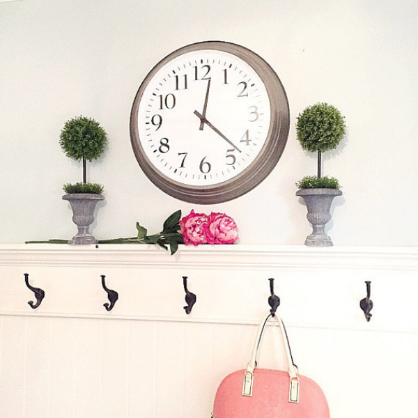 Big Wall Clock Large Rustic Kitchen Office Home Decor Wall Clocks ...