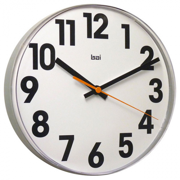 Large Numbers Lucite Wall Clock - Modern - Wall Clocks - other metro ...