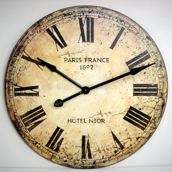 This is a beautiful very large wall clock. French style with an ...