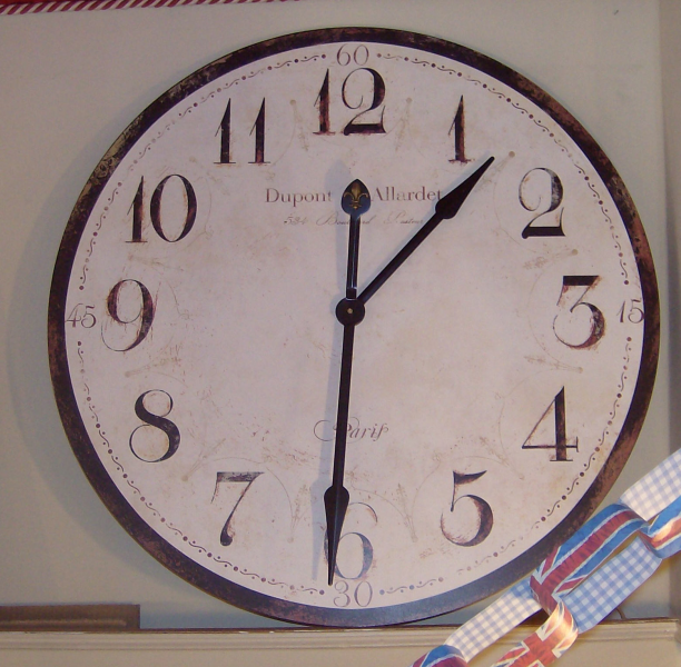 Dupont & Allarde Wooden Wall Clock - Very Large