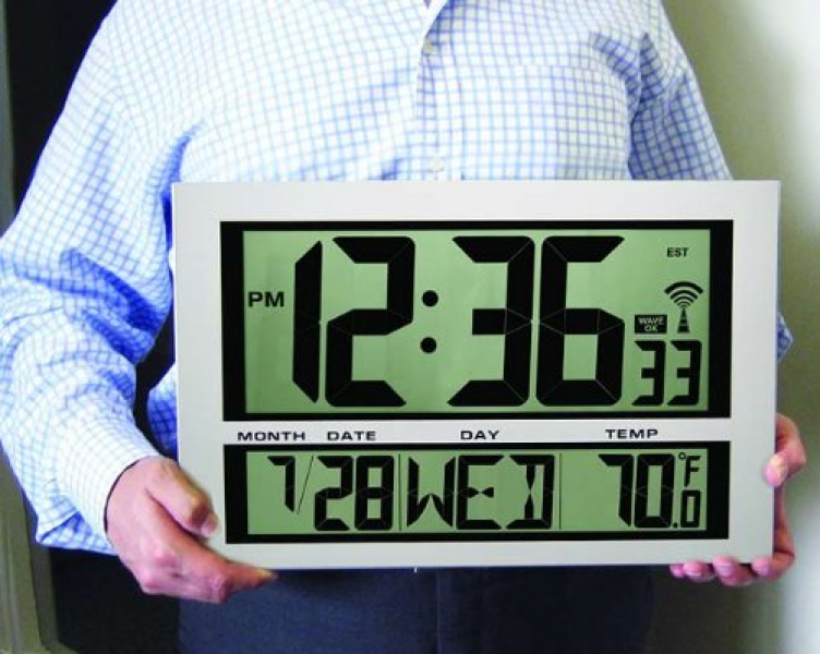 Oversized Wall Clocks: Jumbo Giant Digital Atomic Wall Clock