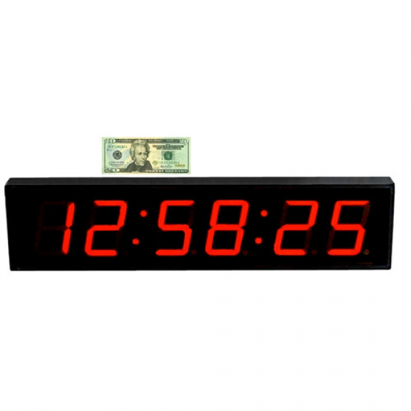 Big Time Clocks Huge 5 Numbers LED Digital Clock