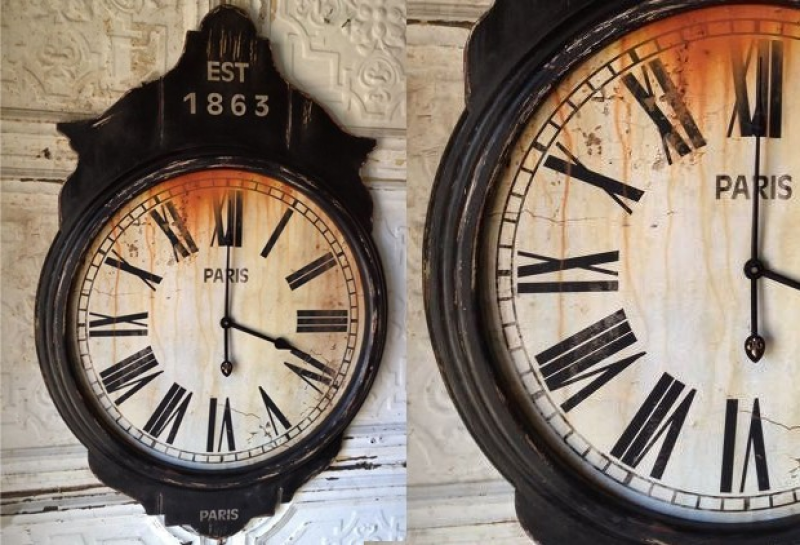 Antique Farmhouse Extra Large Parisian Wooden Wall Clock Antique ...