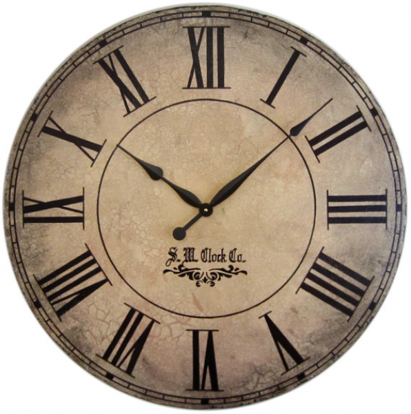 36 in Grand Gallery extra large wall clock Roman numerals big rustic ...
