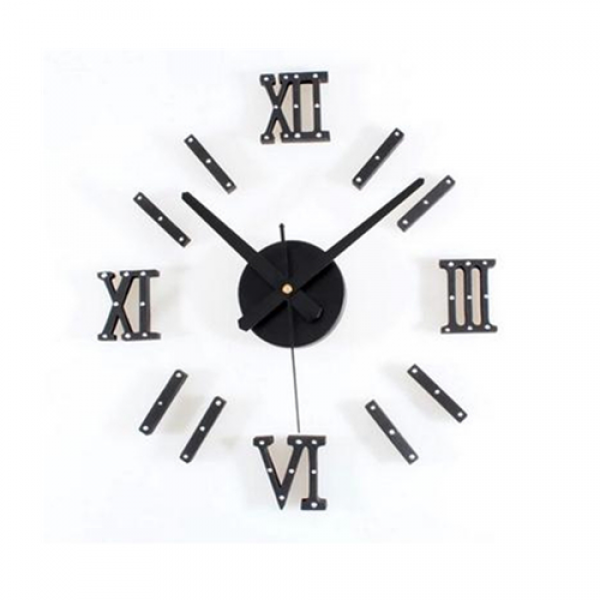 Wall Clock Fashion Novelty DIY Watch Wall Metal Rivet Roman Numerals ...