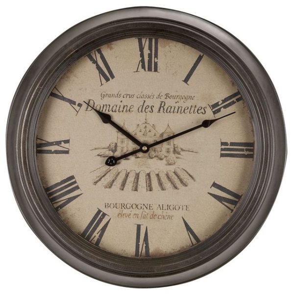 Metal Wall Clock with Roman Numerals - Traditional - Clocks - by ...