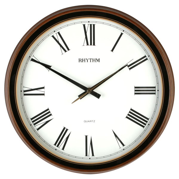 Large Rhythm Wooden Effect Wall Clock - Silent Wall Clocks