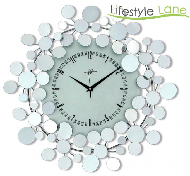 Janya Design Modern Round Mirror Large Wall Clock | eBay