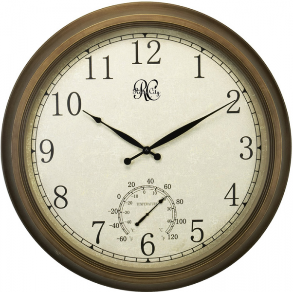 Large Wall Clocks > Wall Clocks > 24 Indoor/Outdoor Brass Clock