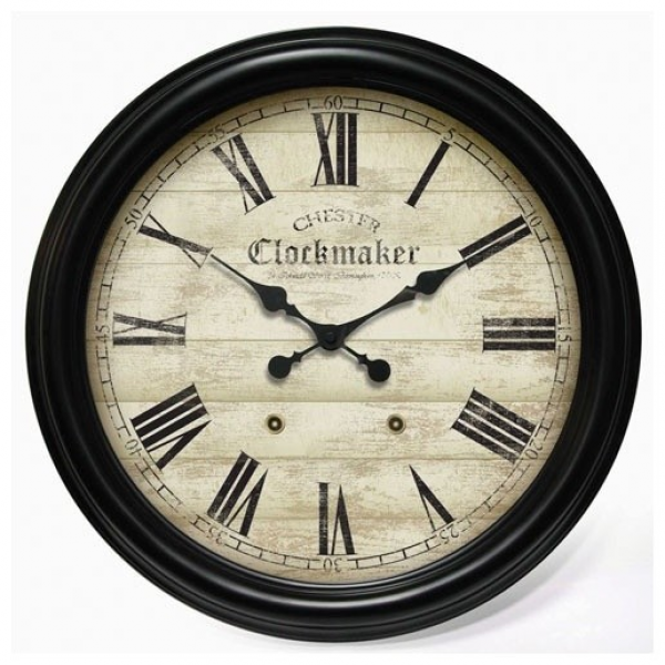 Large Metal Chester Clockmaker Gallery Wall Clock - Modern - Wall ...