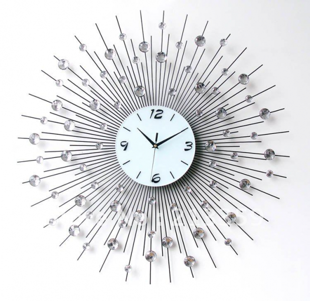 ... wall clock living room bedroom mute modern-in Wall Clocks from Home