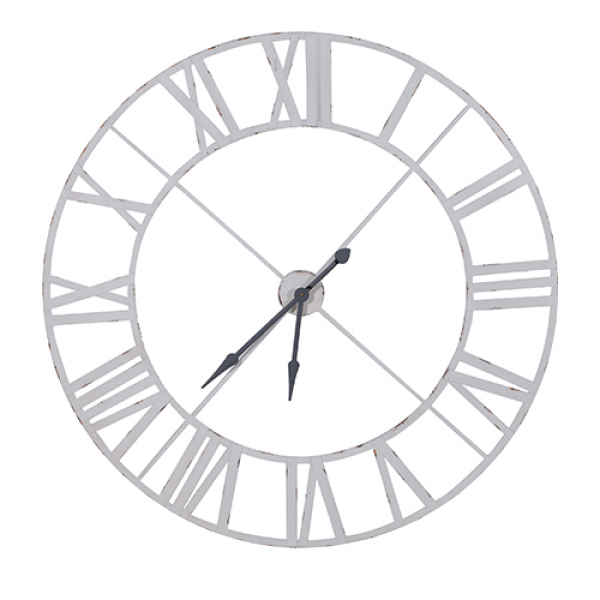 ... stunning extra large industrial white wall clock this huge clock has a