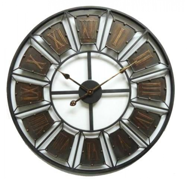 Clocks :: Indoor Wall Clocks :: Antique & Vintage :: Large Iron Wall ...