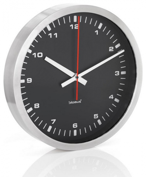 ERA Stainless Steel Wall Clock - Large, Black - Contemporary - Clocks ...