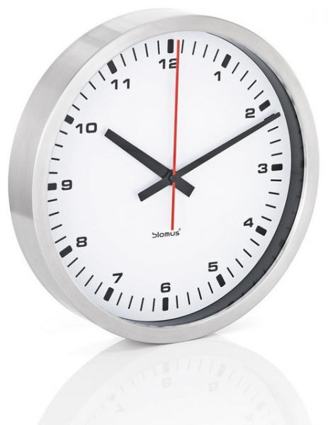 ERA Stainless Steel Wall Clock - Large, White - Contemporary - Clocks ...