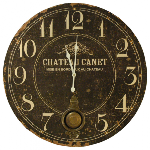 Chateau French Country Antique Brass Large Wall Clock farmhouse-clocks