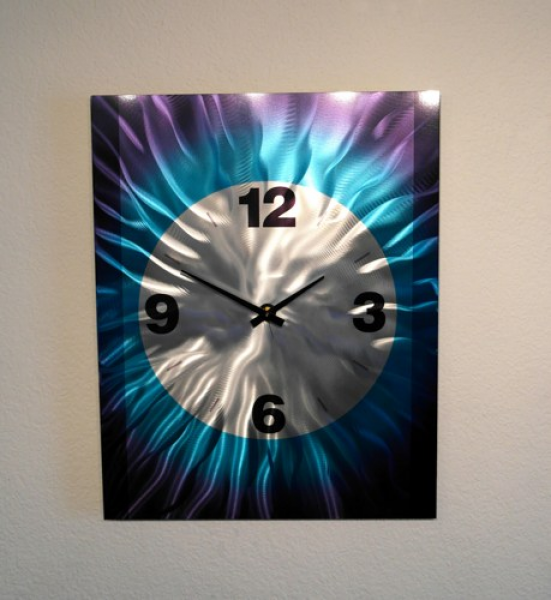Metal Art Wall Art Decor Abstract Contemporary Modern- Wall Clock ...