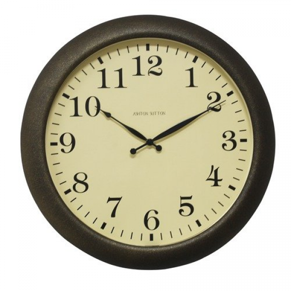 Ashton Sutton Large Indoor/outdoor Wall Clock