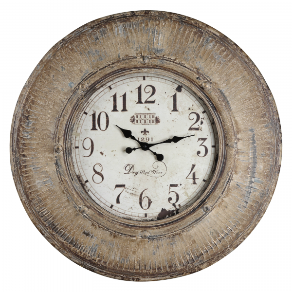 ... in. Heavily Distressed Oversized Wall Clock - Wall Clocks at Hayneedle