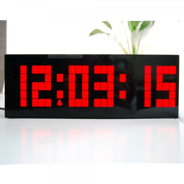 Large Red Led Digital Electric Desk Wall Alarm Clock Date Timer ...